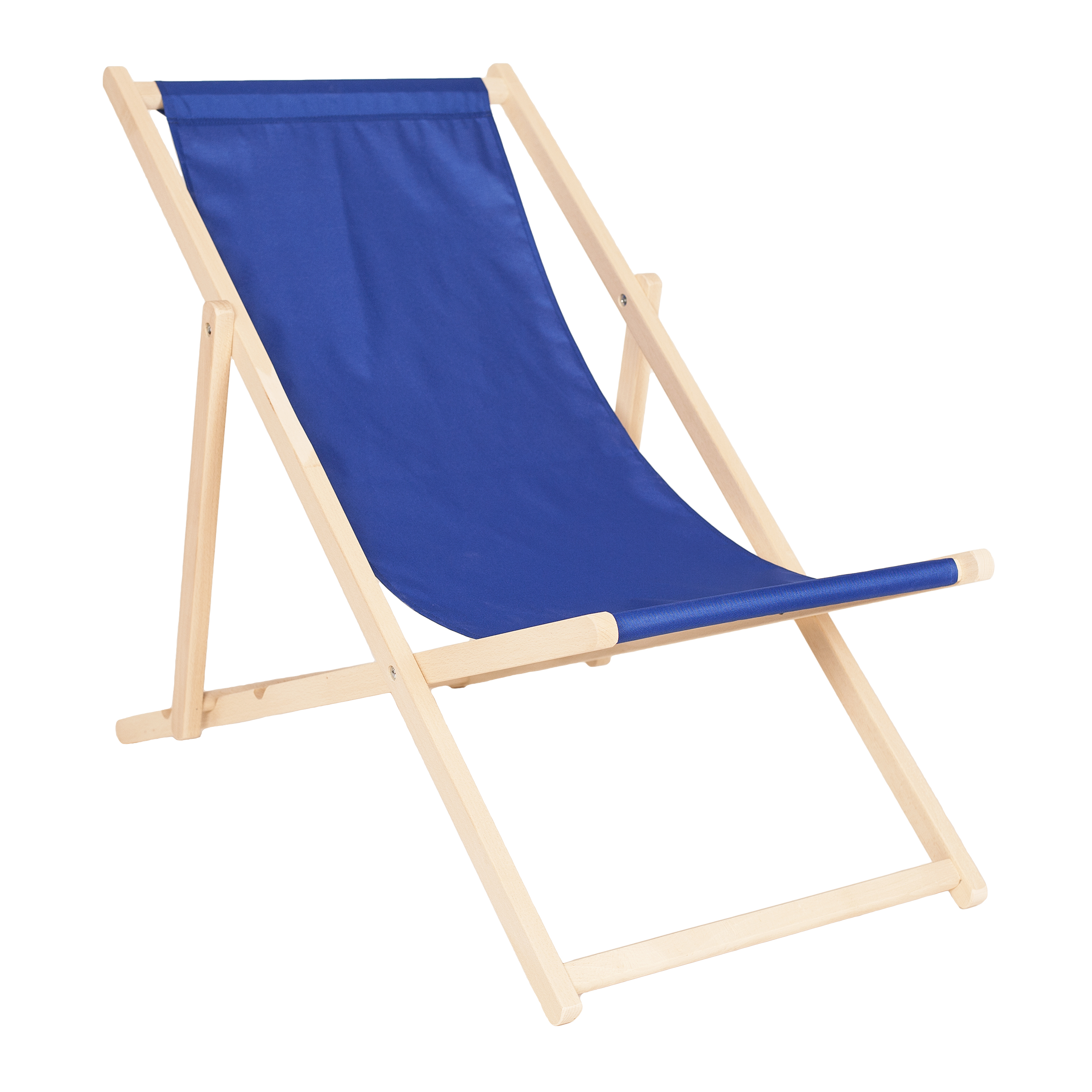 Wooden Deck Chair CLASSIC BLUE