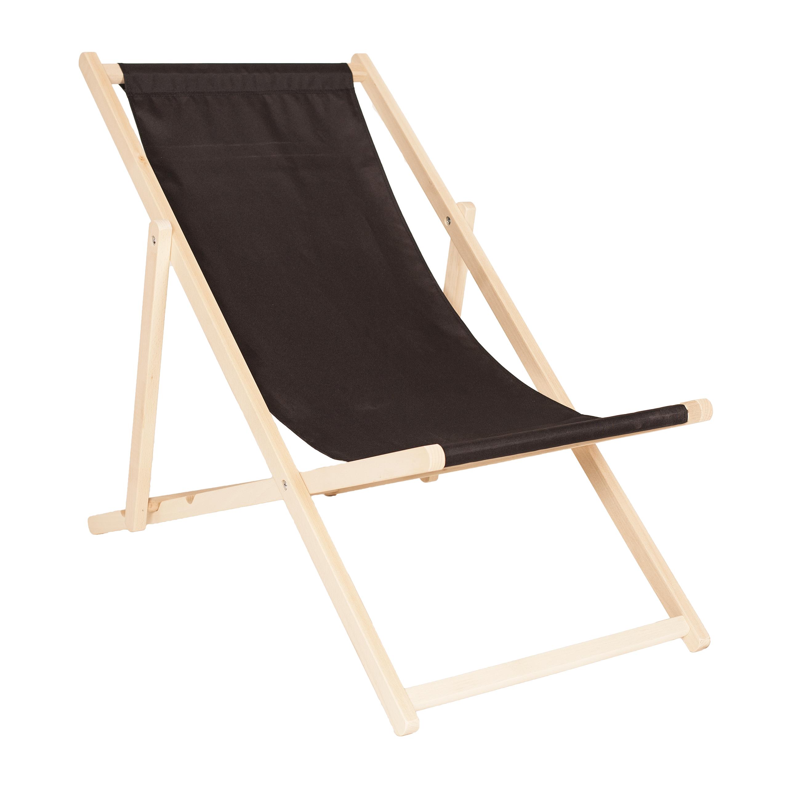 Wooden Deck Chair CLASSIC BLACK